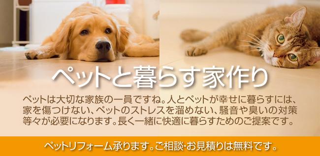 ペットと暮らす家づくりf